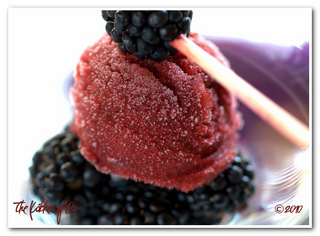 Blackberry-Ginger Sorbet