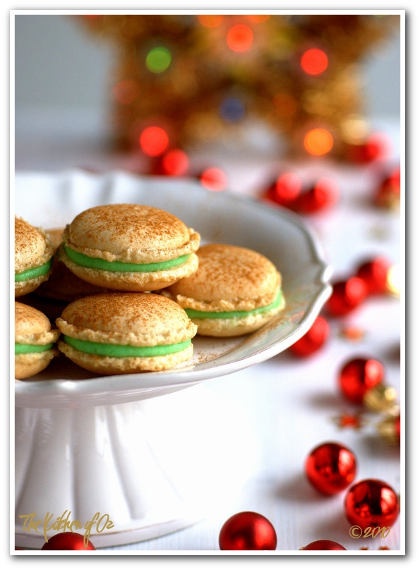 Ginger and Green Apple Macarons