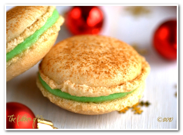 Ginger & Green Apple Macaron for the New Year