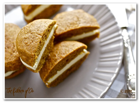 Pumpkin Whoopie Pie with Elderberry Flavored Cream